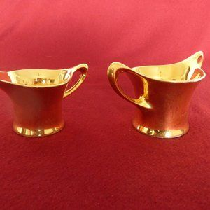 Vintage 22 Carat Gold Sugar and Creamer